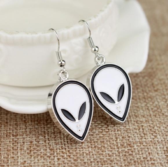 Glow Alien Earrings